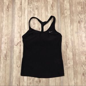 Nike athletic tank top with built in sports bra
